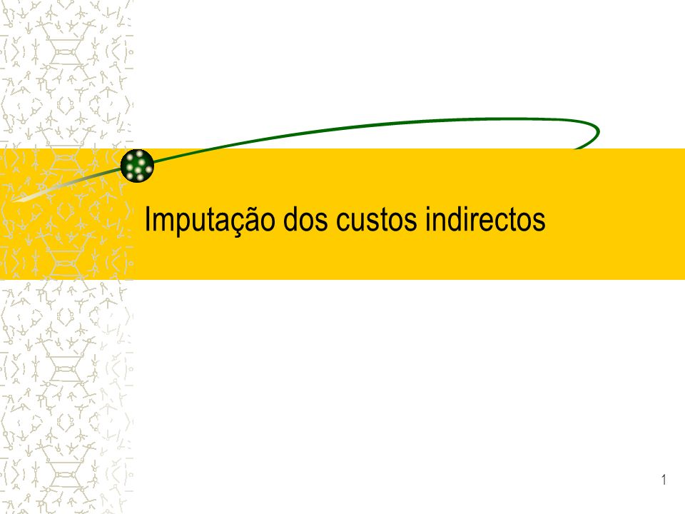 Imputação dos custos indirectos