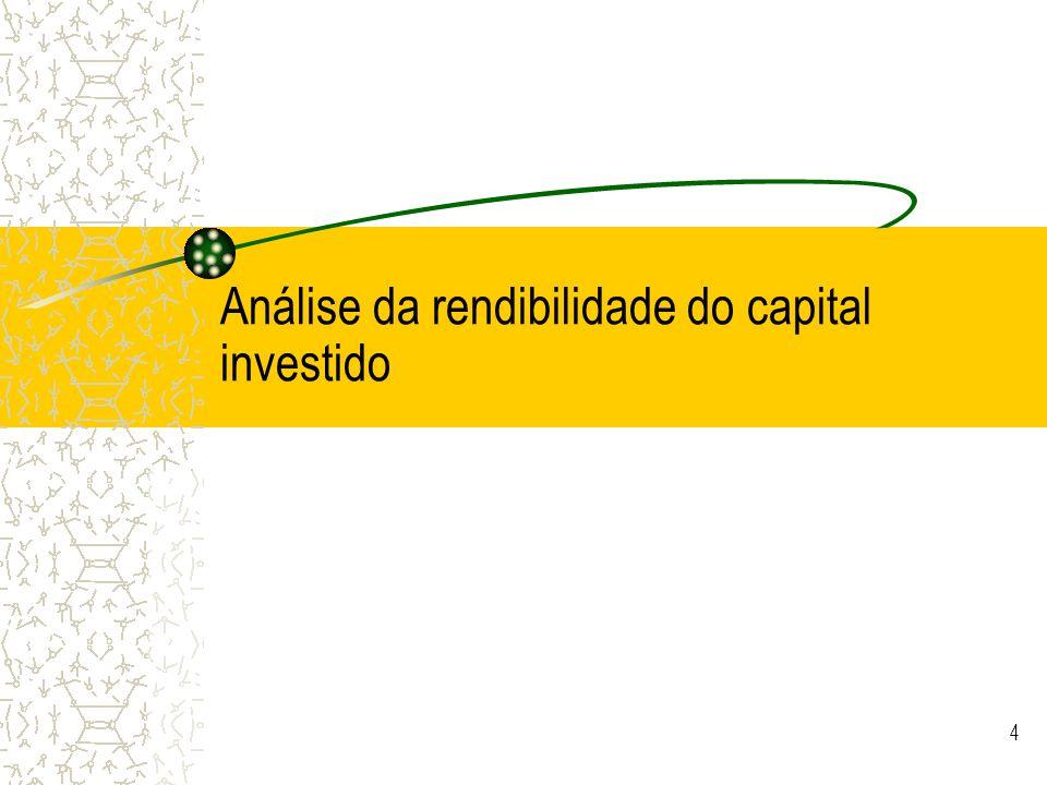 Análise da rendibilidade do capital investido