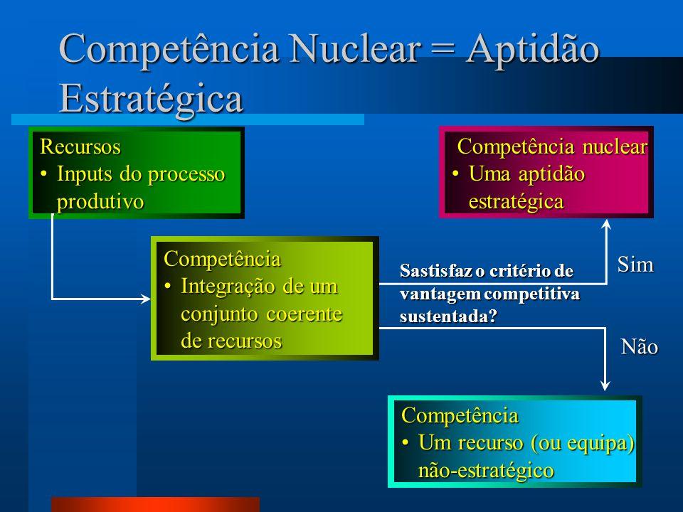 Competência Nuclear = Aptidão Estratégica