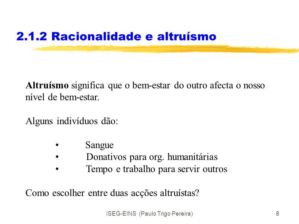 2.1.2 Racionalidade e altruísmo