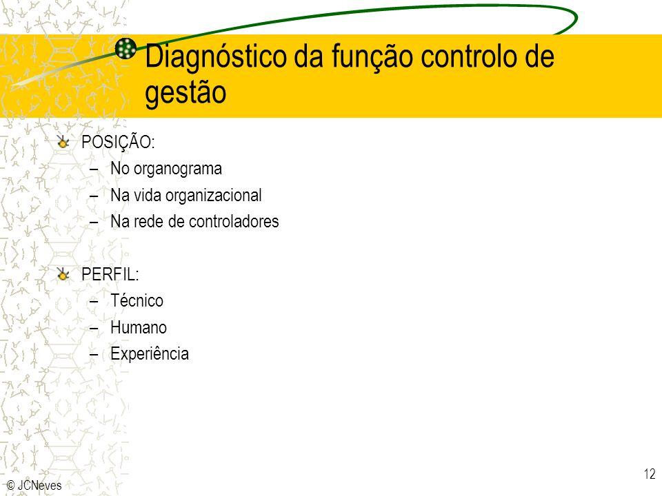 Diagnóstico da função controlo de gestão