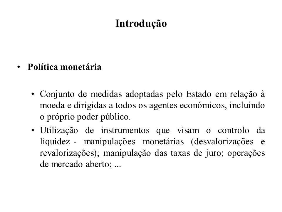 Introdução Política monetária