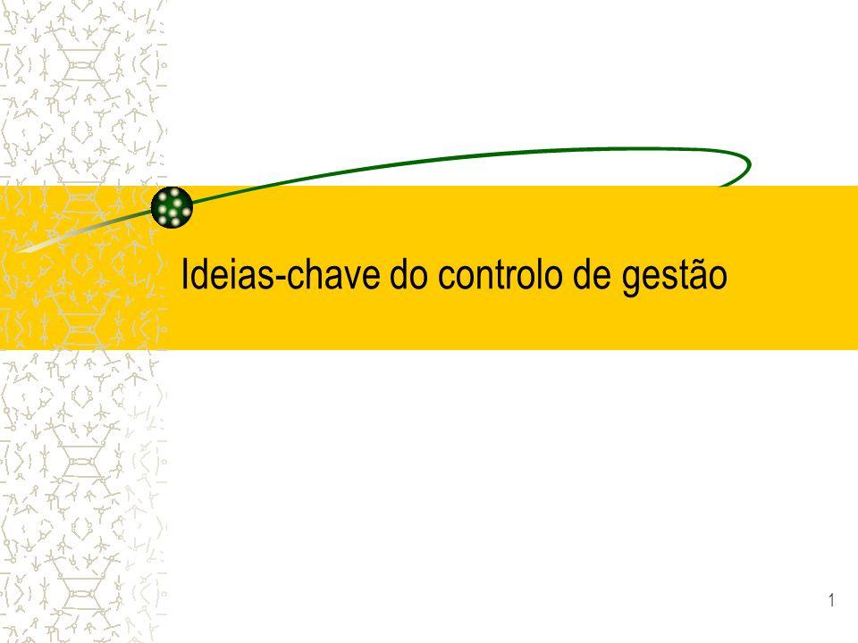 Ideias-chave do controlo de gestão