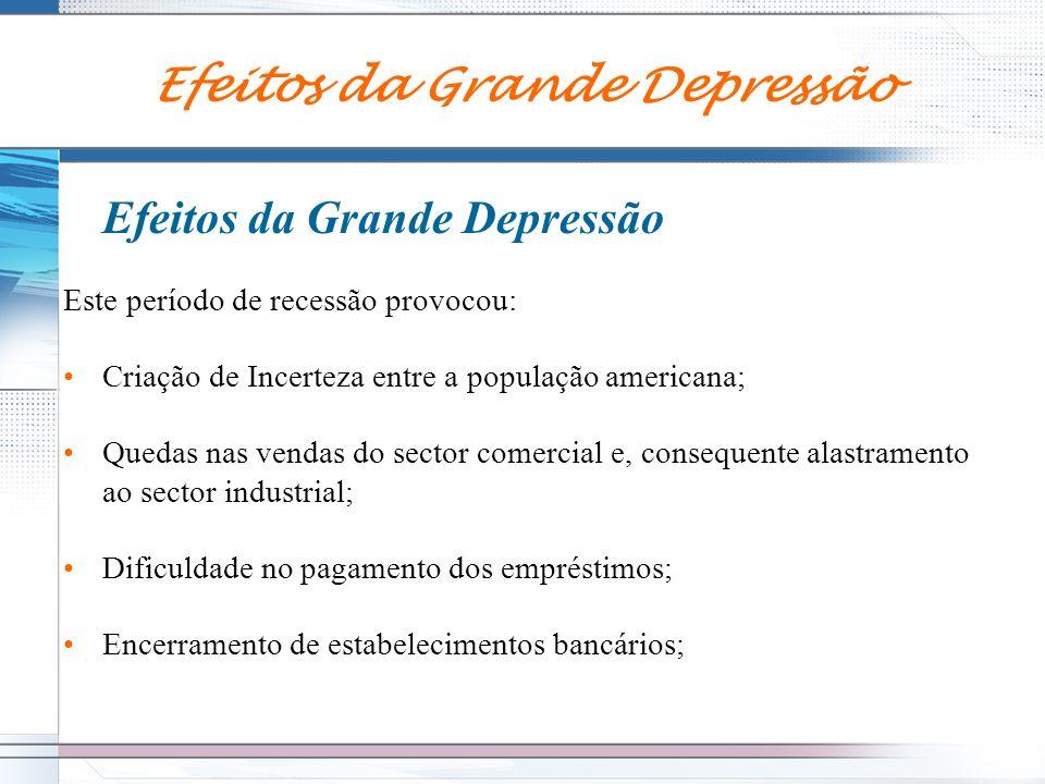 Efeitos da Grande Depressão