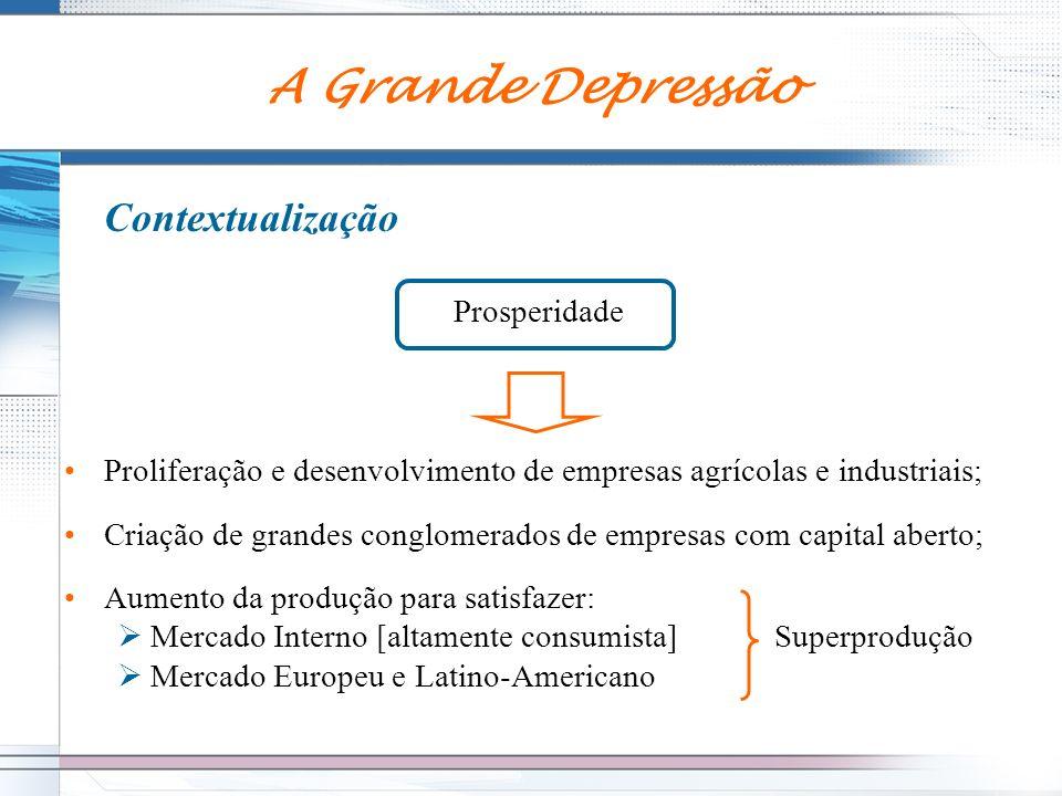 A Grande Depressão Contextualização Prosperidade