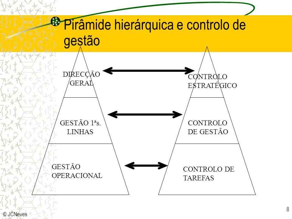 Pirâmide hierárquica e controlo de gestão