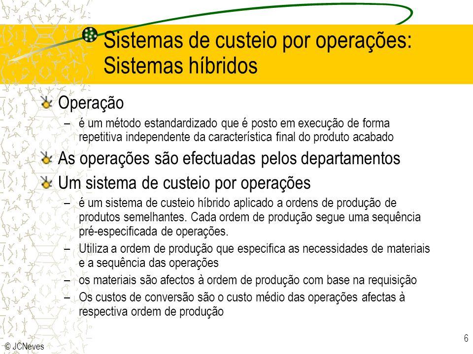 Sistemas de custeio por operações: Sistemas híbridos