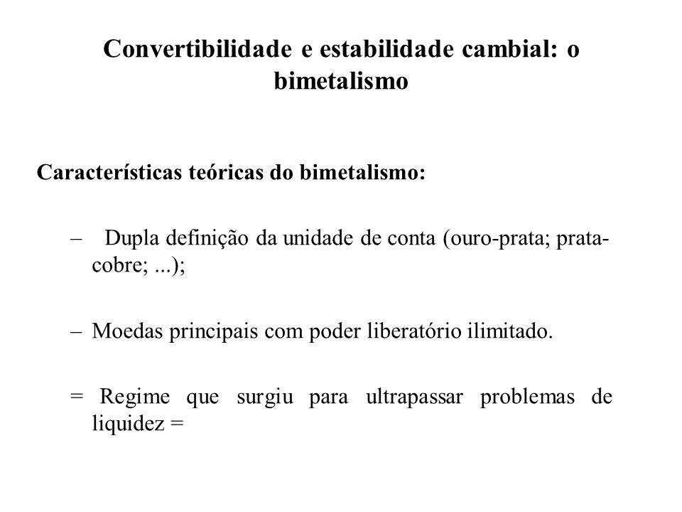 Convertibilidade e estabilidade cambial: o bimetalismo