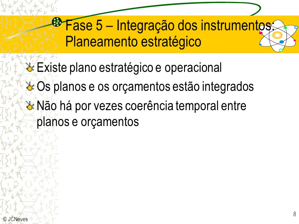 Fase 5 – Integração dos instrumentos: Planeamento estratégico
