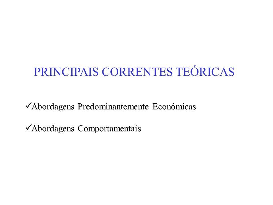 PRINCIPAIS CORRENTES TEÓRICAS