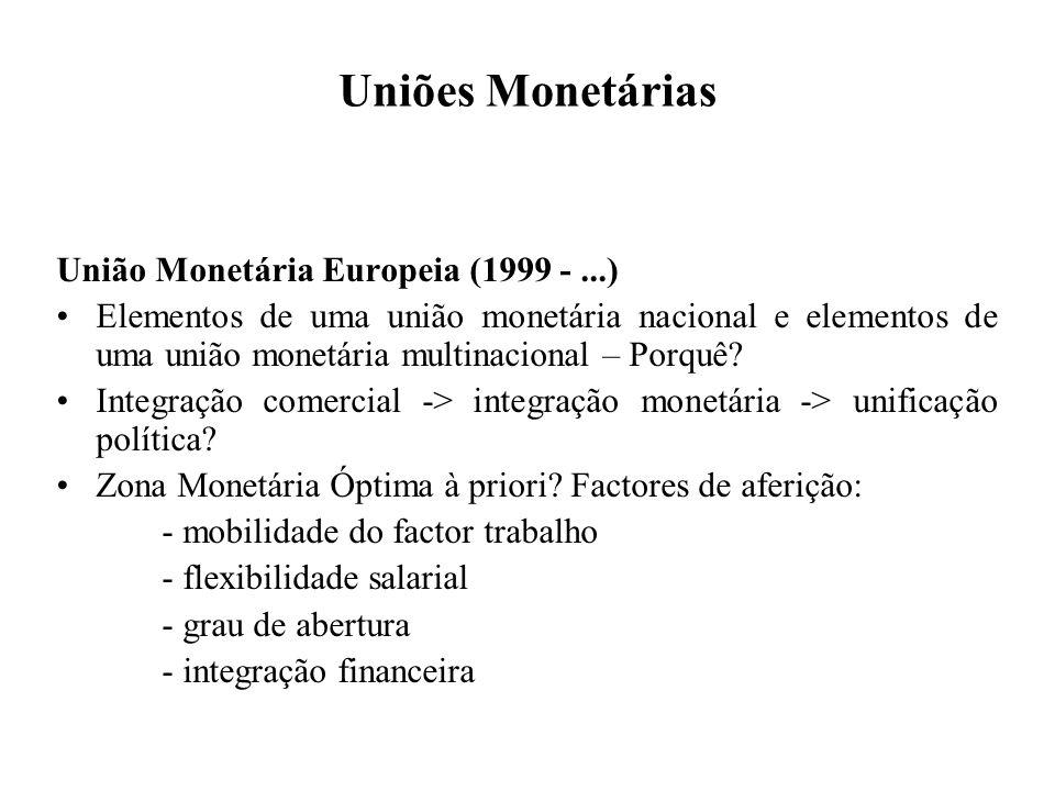 Uniões Monetárias União Monetária Europeia (1999 - ...)