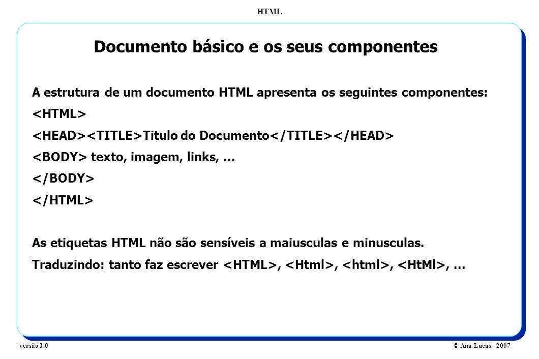 Documento básico e os seus componentes