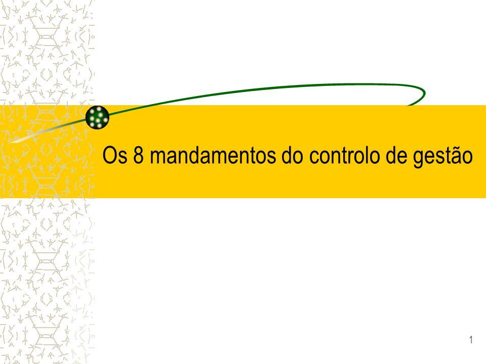 Os 8 mandamentos do controlo de gestão