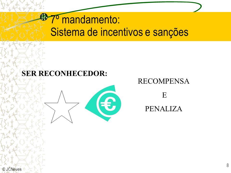 7º mandamento: Sistema de incentivos e sanções