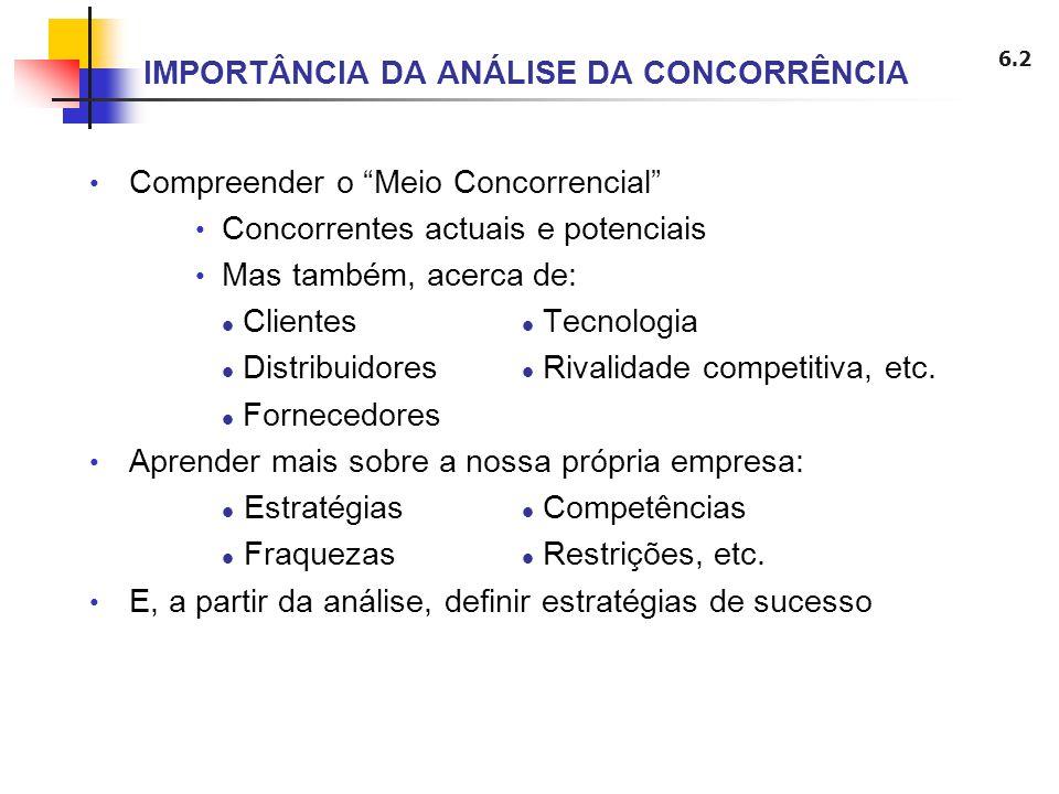 IMPORTÂNCIA DA ANÁLISE DA CONCORRÊNCIA
