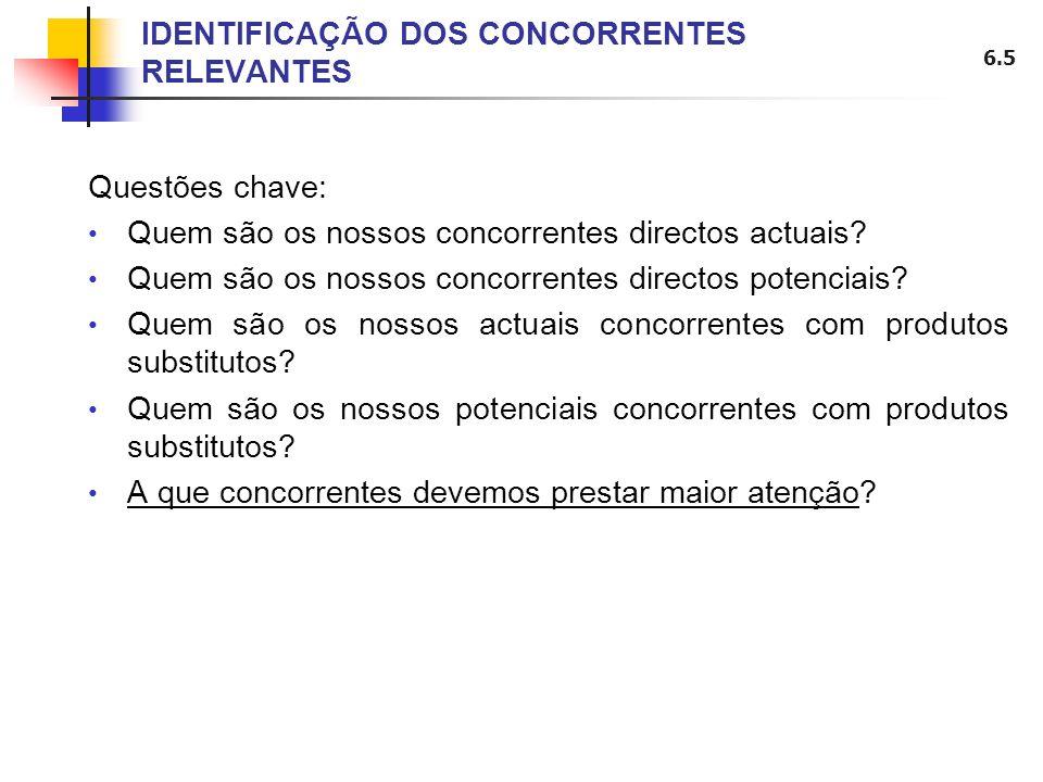IDENTIFICAÇÃO DOS CONCORRENTES RELEVANTES