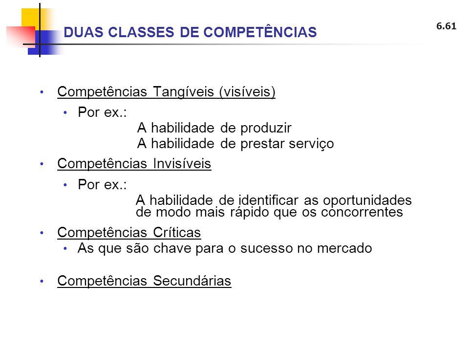 DUAS CLASSES DE COMPETÊNCIAS