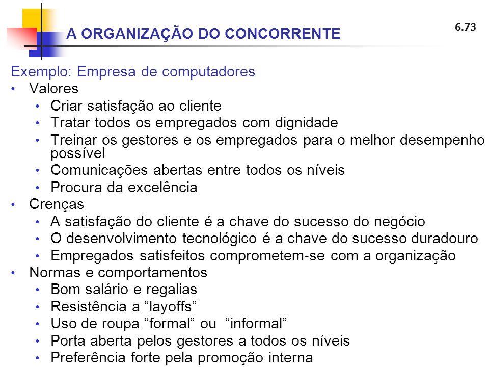 A ORGANIZAÇÃO DO CONCORRENTE