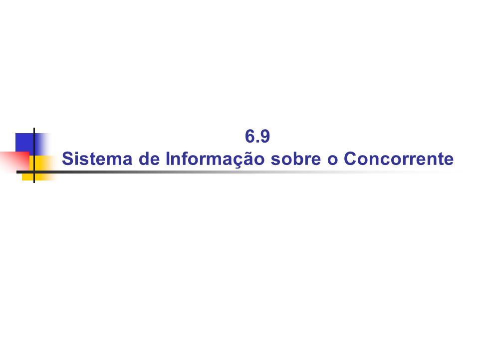 6.9 Sistema de Informação sobre o Concorrente