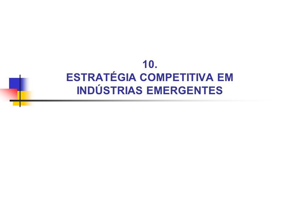 10. ESTRATÉGIA COMPETITIVA EM INDÚSTRIAS EMERGENTES