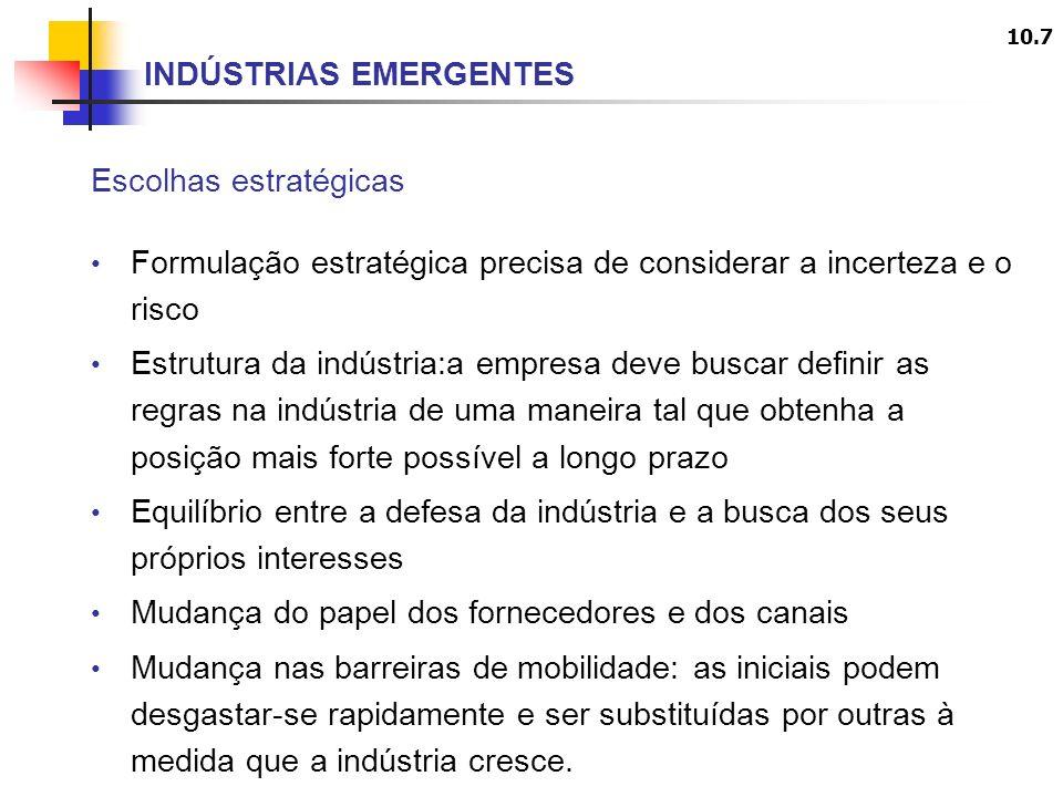 INDÚSTRIAS EMERGENTES