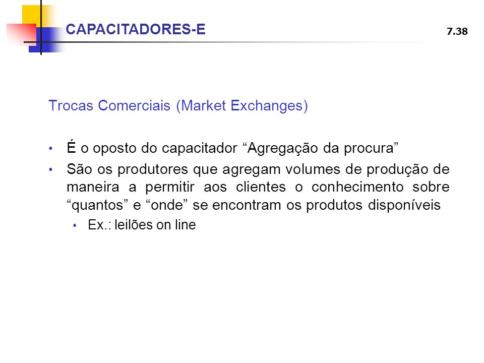 Trocas Comerciais (Market Exchanges)