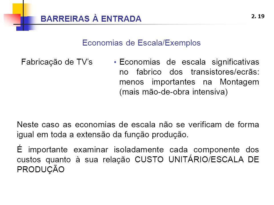 Economias de Escala/Exemplos