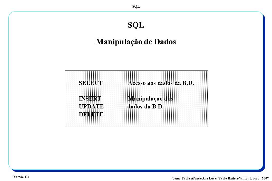 SQL Manipulação de Dados