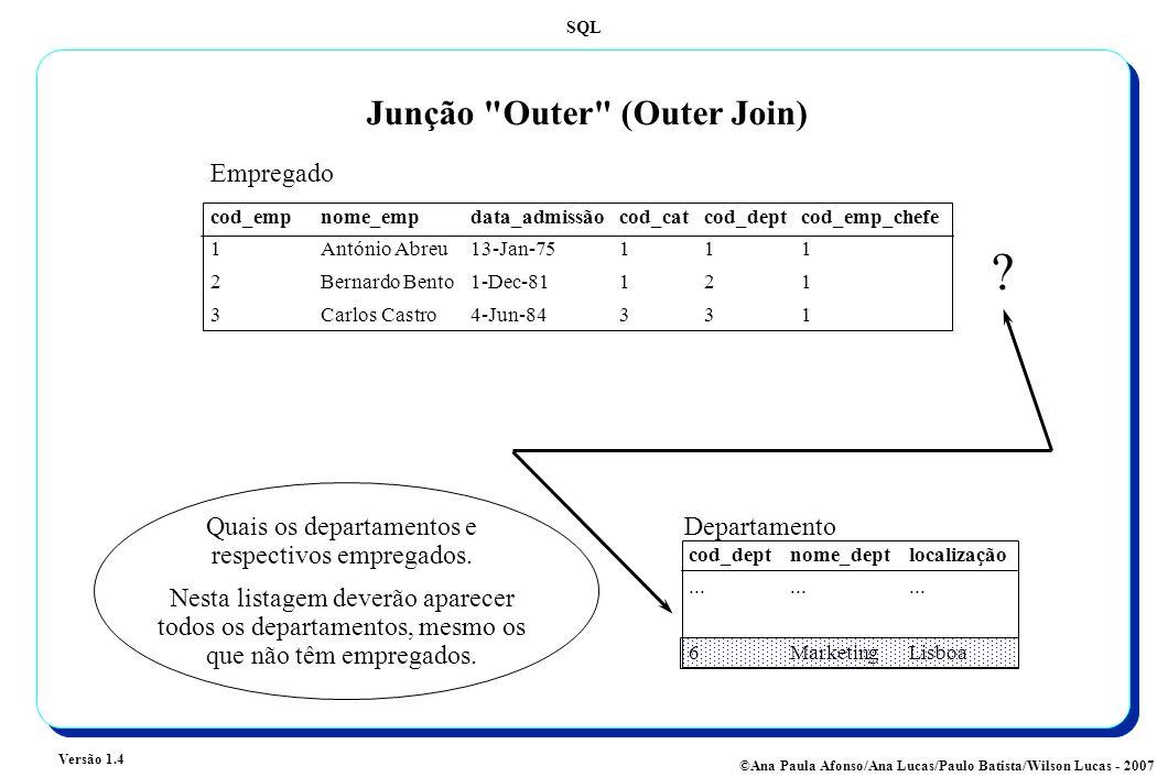 Junção Outer (Outer Join)