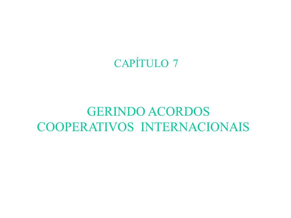 CAPÍTULO 7 GERINDO ACORDOS COOPERATIVOS INTERNACIONAIS
