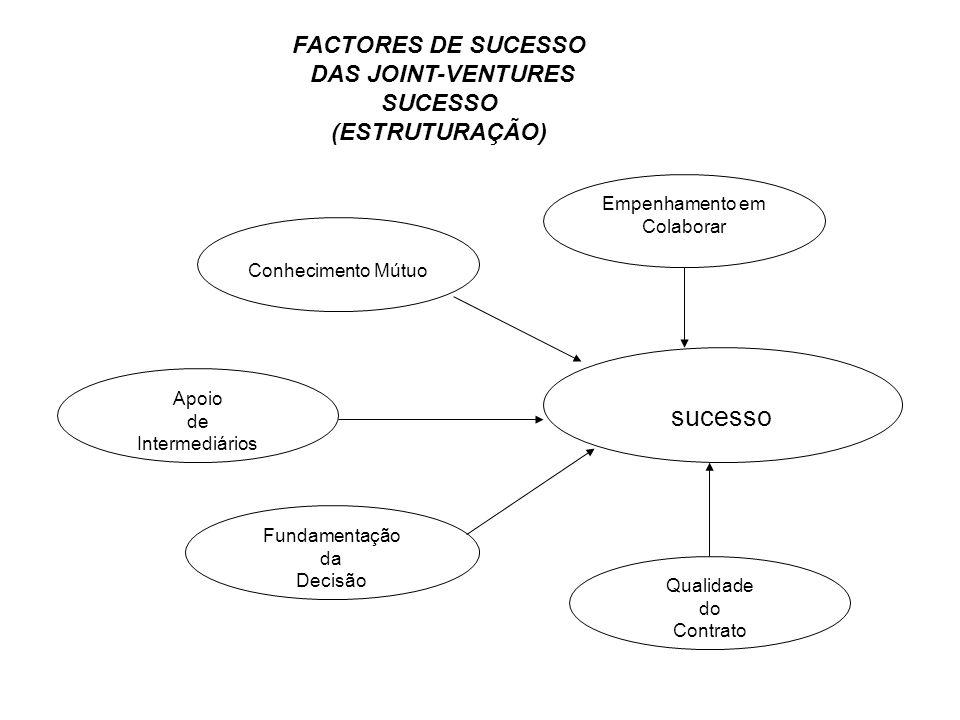 sucesso FACTORES DE SUCESSO DAS JOINT-VENTURES SUCESSO (ESTRUTURAÇÃO)