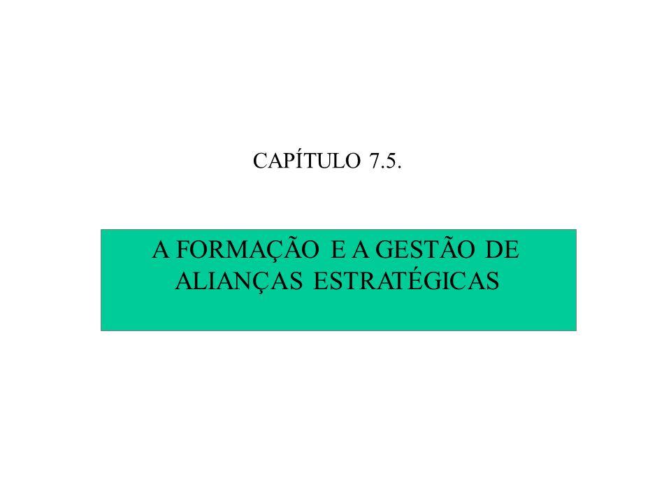 A FORMAÇÃO E A GESTÃO DE ALIANÇAS ESTRATÉGICAS