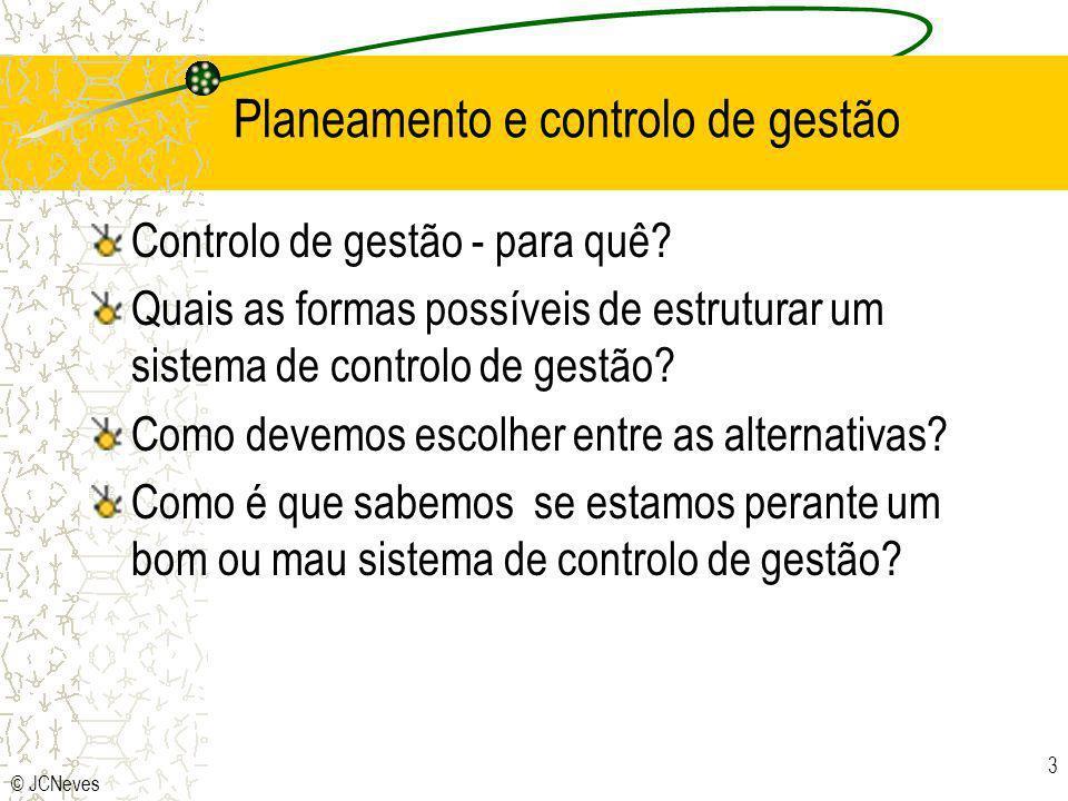 Planeamento e controlo de gestão