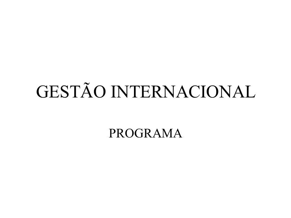 GESTÃO INTERNACIONAL PROGRAMA