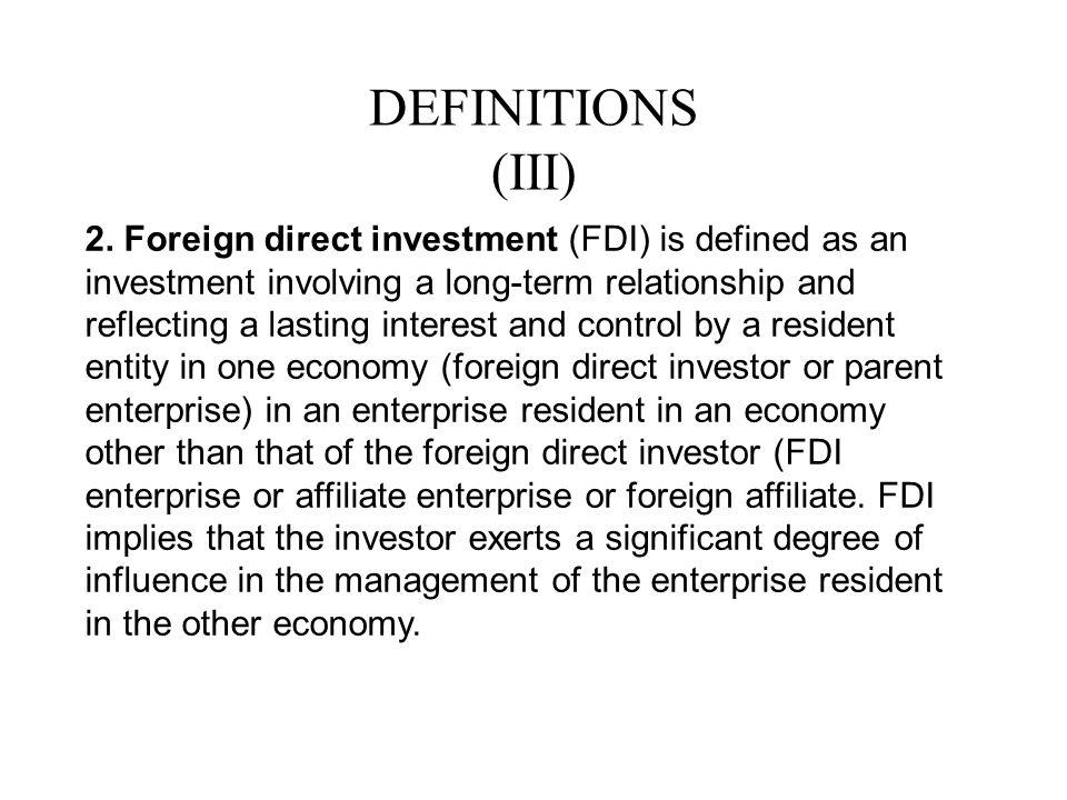 DEFINITIONS (III)