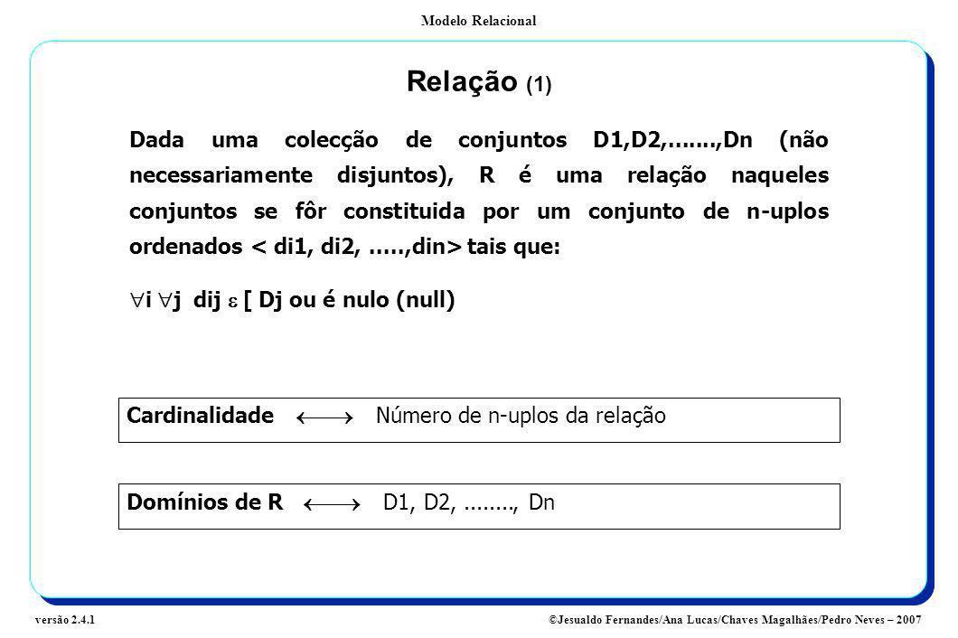 Relação (1)