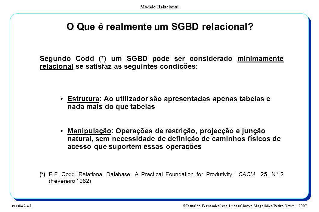 O Que é realmente um SGBD relacional