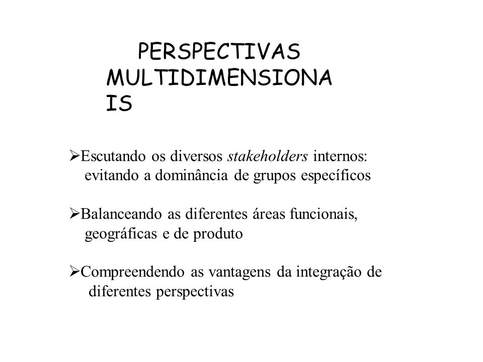 PERSPECTIVAS MULTIDIMENSIONAIS