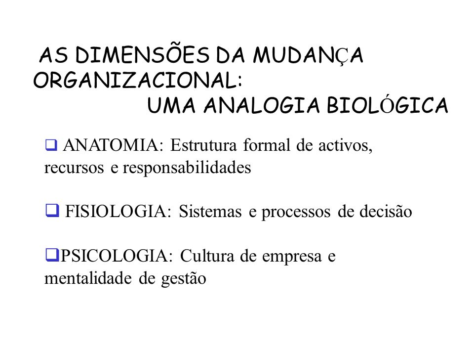 UMA ANALOGIA BIOLÓGICA