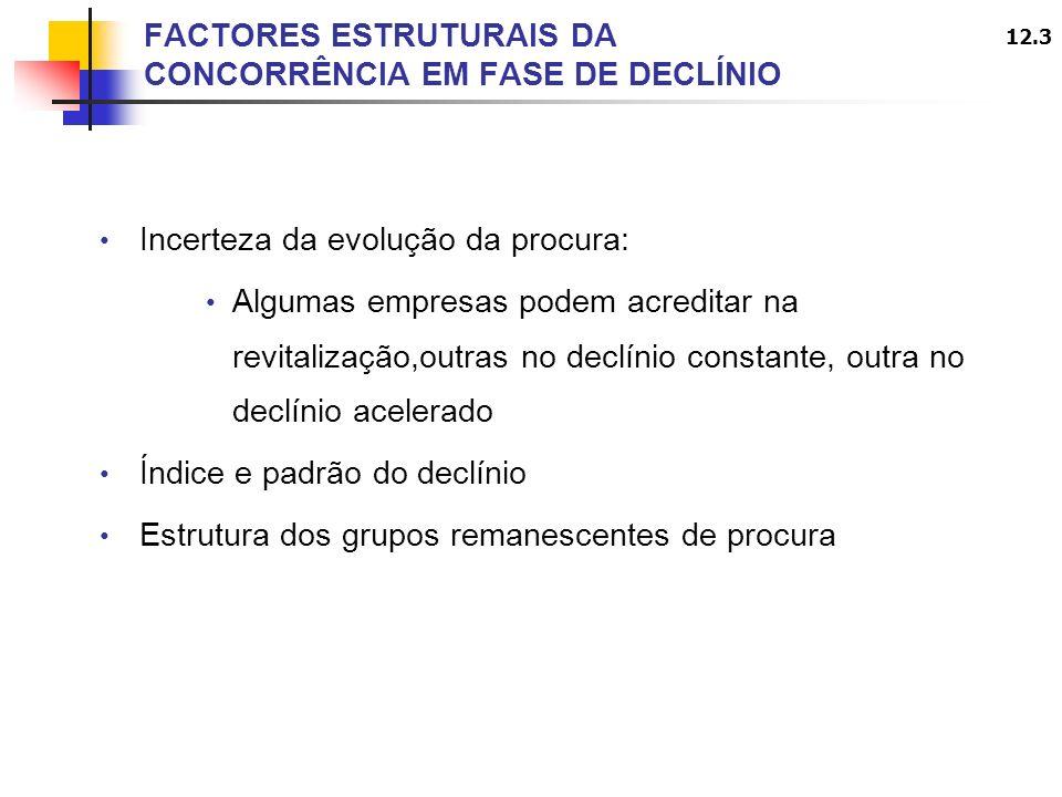 FACTORES ESTRUTURAIS DA CONCORRÊNCIA EM FASE DE DECLÍNIO