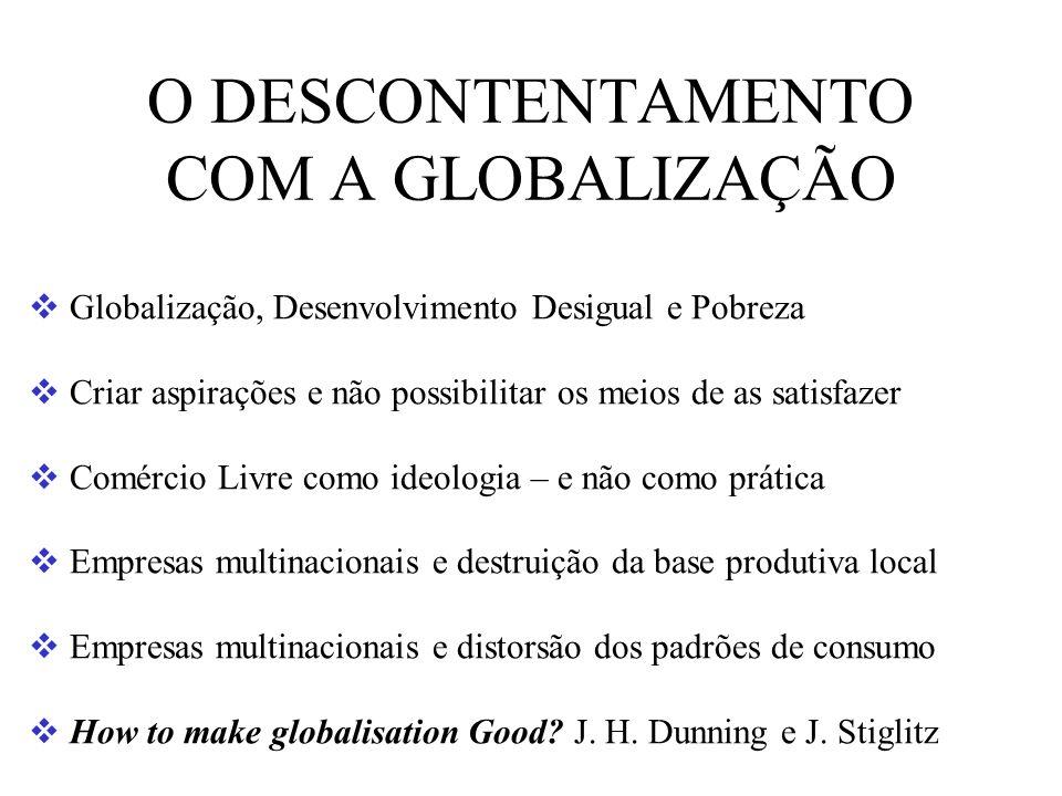 O DESCONTENTAMENTO COM A GLOBALIZAÇÃO