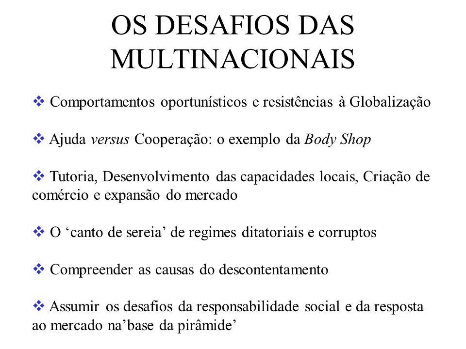 OS DESAFIOS DAS MULTINACIONAIS