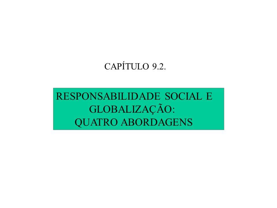 RESPONSABILIDADE SOCIAL E GLOBALIZAÇÃO: QUATRO ABORDAGENS