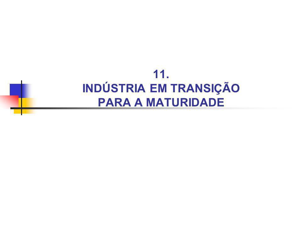 11. INDÚSTRIA EM TRANSIÇÃO PARA A MATURIDADE