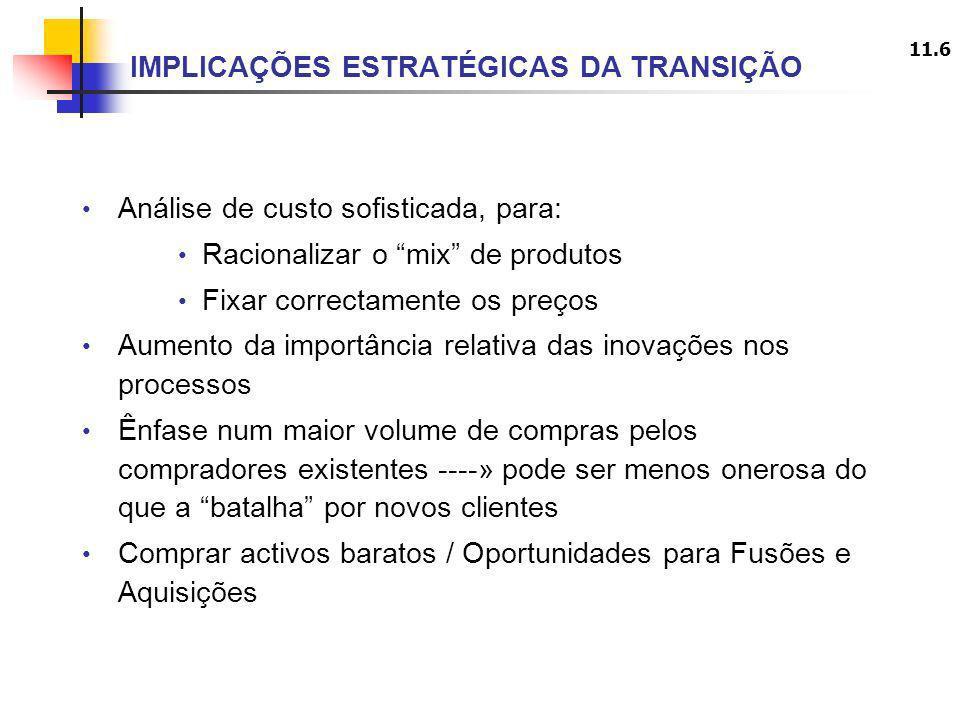 IMPLICAÇÕES ESTRATÉGICAS DA TRANSIÇÃO