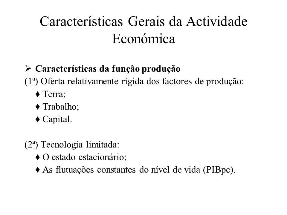 Características Gerais da Actividade Económica