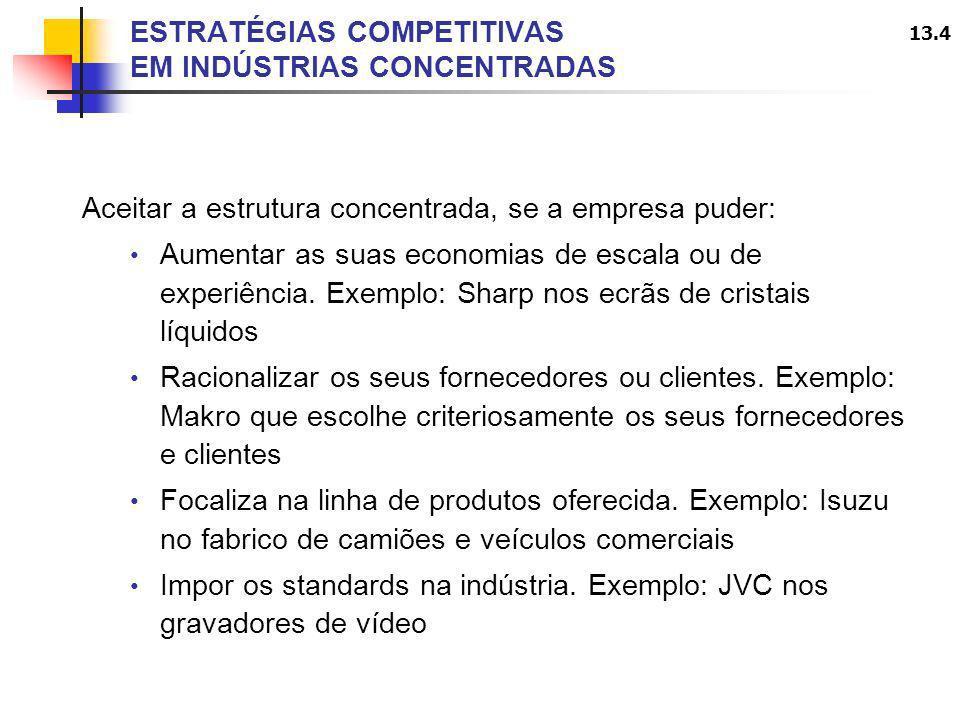 ESTRATÉGIAS COMPETITIVAS EM INDÚSTRIAS CONCENTRADAS