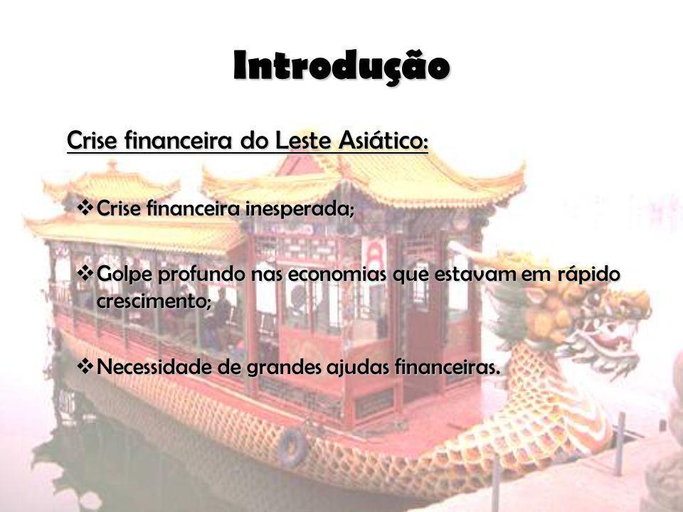 Introdução Crise financeira do Leste Asiático: