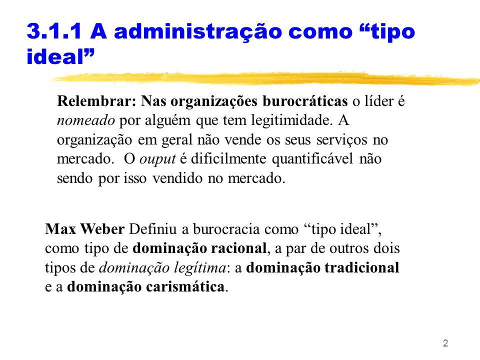 3.1.1 A administração como tipo ideal