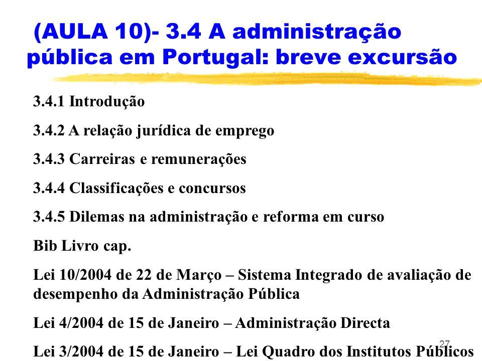 (AULA 10)- 3.4 A administração pública em Portugal: breve excursão